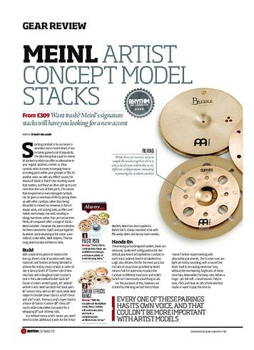 Rhythm Meinl Artist Concept Model Stacks