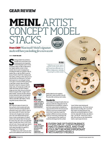 Rhythm Meinl Artist Concept Model Stacks