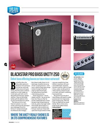Total Guitar Blackstar Pro Bass Unity 250