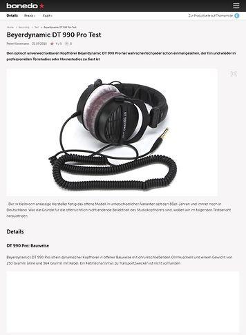 Bonedo.de Beyerdynamic DT 990 Pro