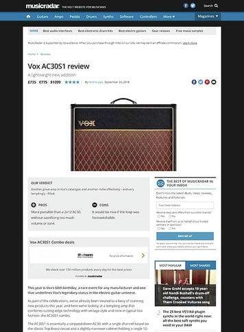 MusicRadar.com Vox AC30S1 Combo