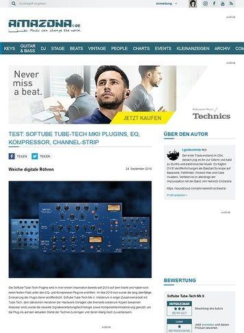 Amazona.de Softube Tube-Tech MKII Plugins