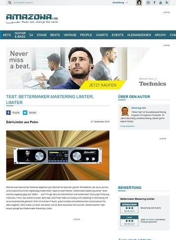 Amazona.de Bettermaker Mastering Limiter