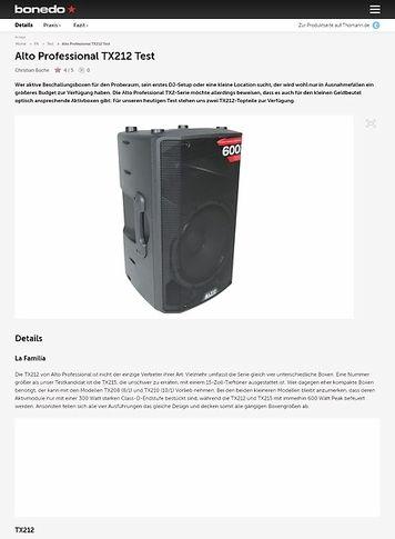Bonedo.de Alto Professional TX212