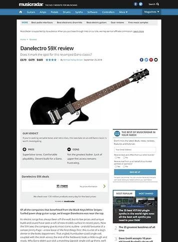 MusicRadar.com Danelectro 59X