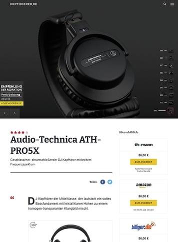 Kopfhoerer.de Audio-Technica ATH-PRO5 X BK