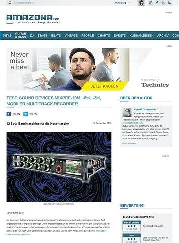 Amazona.de Sound Devices MixPre-10M, -6M, -3M