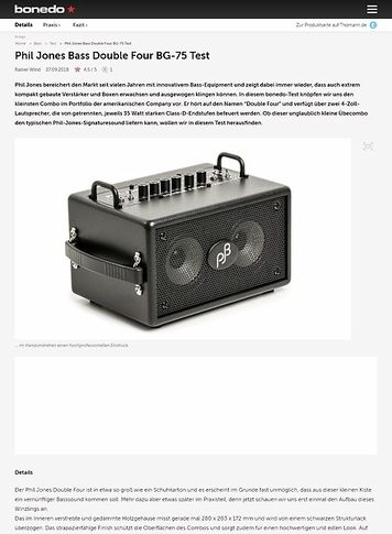 Bonedo.de Phil Jones Bass Double Four BG-75