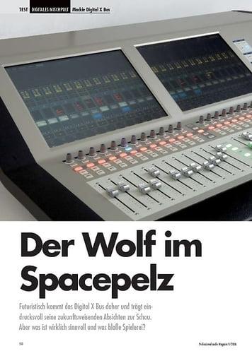 Professional Audio Der Wolf im Spacepelz Mackie Digital X Bus