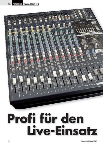 Professional Audio Profi für den Yamaha Live-Einsatz EMX5016CF