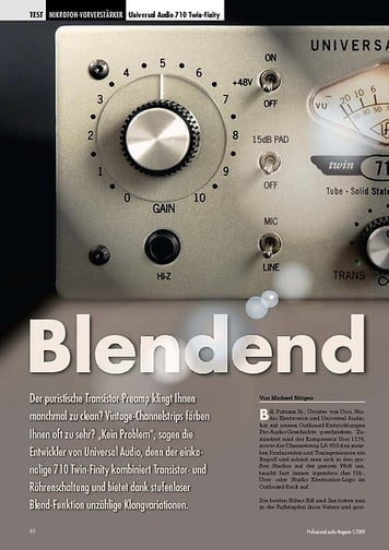 Professional Audio Blendend Universal Audio 710 Twin-Finity