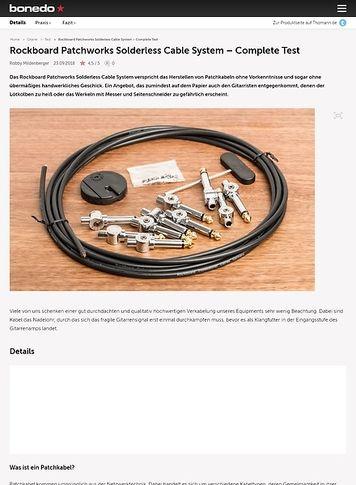 Bonedo.de Rockboard Patchworks Solderless Cable System
