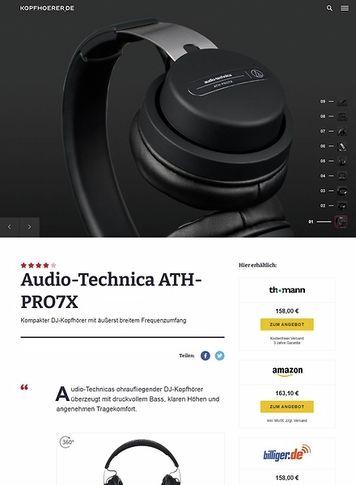 Kopfhoerer.de Audio-Technica ATH-PRO7 X BK