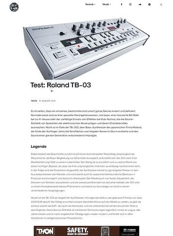 DJLAB Roland TB-03