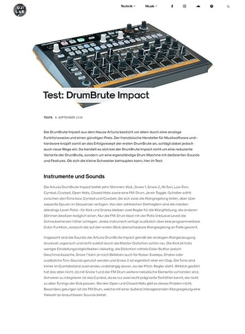 DJLAB Test: DrumBrute Impact