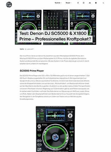 DJLAB Denon DJ SC5000 & X1800 Prime