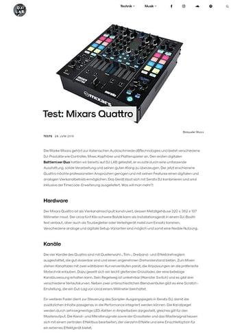 DJLAB Mixars Quattro