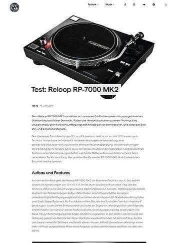 DJLAB Reloop RP-7000 MK2