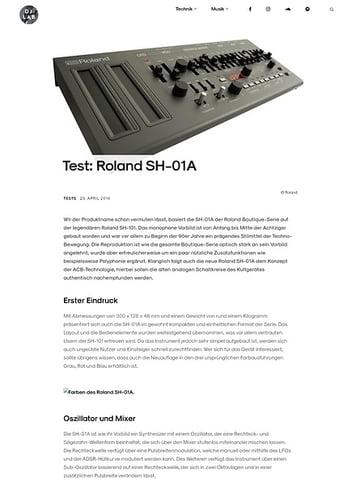 DJLAB Roland SH-01A