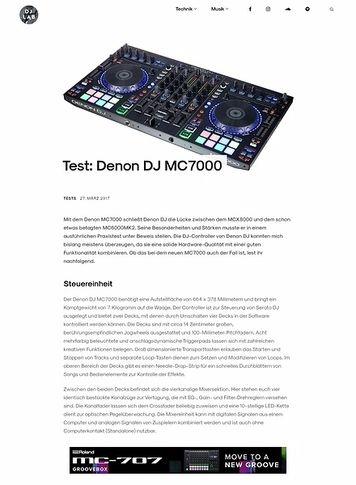 DJLAB Denon DJ MC7000