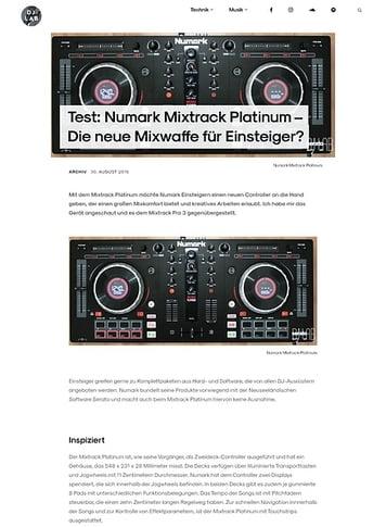 DJLAB Numark Mixtrack Platinum