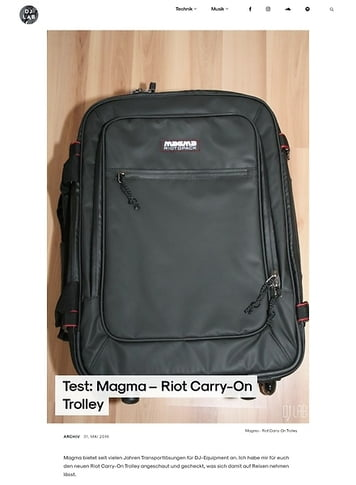 DJLAB Magma – Riot Carry-On Trolley