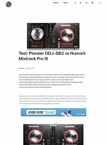 DJLAB Pioneer DDJ-SB2 vs Numark Mixtrack Pro III