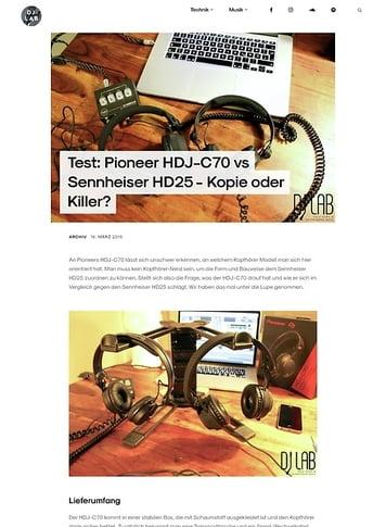 DJLAB Pioneer HDJ-C70 vs Sennheiser HD25