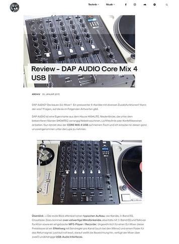 DJLAB DAP AUDIO Core Mix 4 USB
