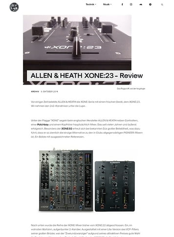 DJLAB ALLEN & HEATH XONE:23