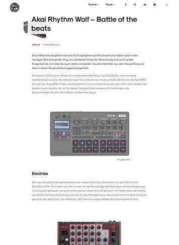 DJLAB Vergleichstest: Korg Electribe vs Akai Rhythm Wolf