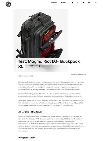 DJLAB Magma Riot DJ- Backpack XL