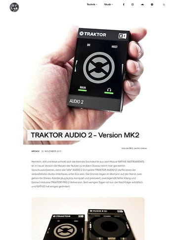 DJLAB TRAKTOR AUDIO 2