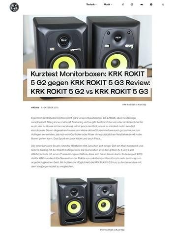 DJLAB KRK ROKIT 5 G2 gegen KRK ROKIT 5 G3