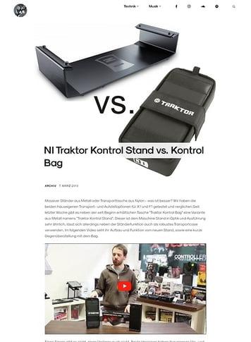 DJLAB NI Traktor Kontrol Stand vs. Kontrol Bag