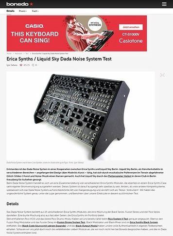 Bonedo.de Erica Synths / Liquid Sky Dada Noise System