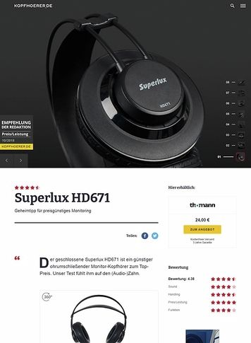 Kopfhoerer.de Superlux HD-671 Black