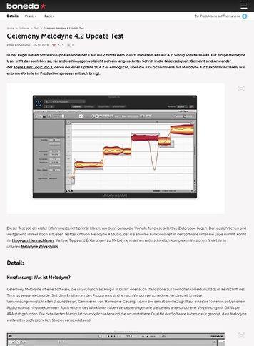 Bonedo.de Celemony Melodyne 4.2 Update