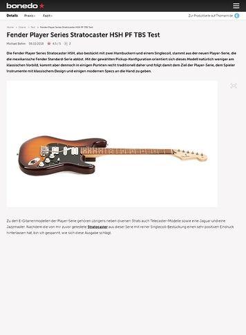 Bonedo.de Fender Player Series Stratocaster HSH PF TBS