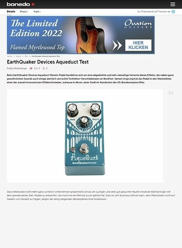 Bonedo.de EarthQuaker Devices Aqueduct