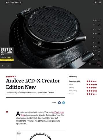 Kopfhoerer.de Audeze LCD-X Creator Edition New