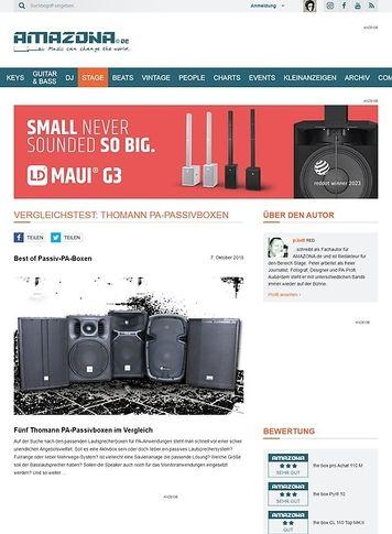 Amazona.de Vergleichstest: Thomann PA-Passivboxen