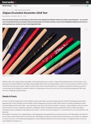 Bonedo.de Zildjian Drumstick Neuheiten 2018