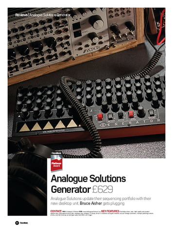 Future Music Analogue Solutions Generator