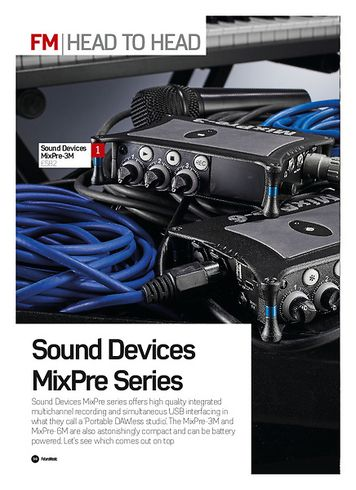 Future Music Sound Devices MixPre Series