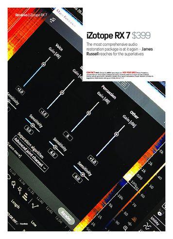 Future Music iZotope RX 7