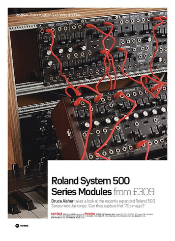 Future Music Roland System 500 Series Modules