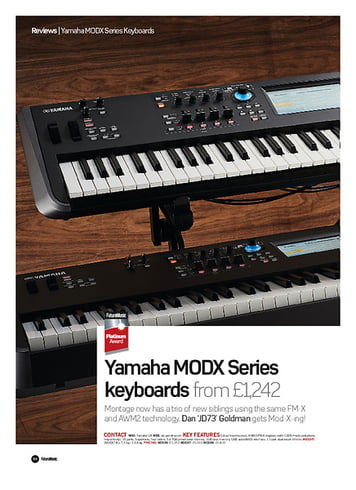 Future Music Yamaha MODX Series keyboards