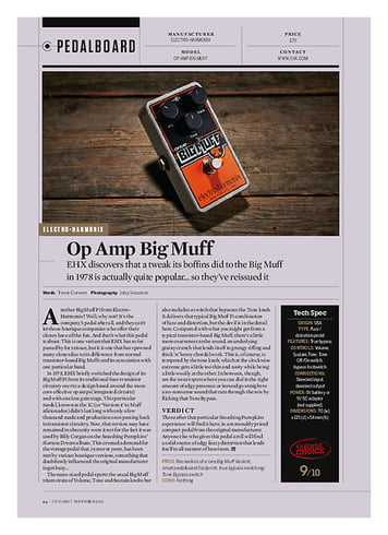 Guitarist Op Amp Big Muff