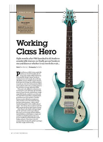 Guitarist PRS S2 Studio